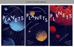 poster design by Lauryn Medeiros, graphic design, planets, posters, gustav holst, music, concert