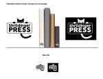 graphic design by Lauryn Medeiros, cat, shrodinger's cat, publisher's mark