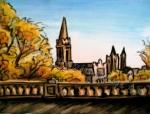 Aberdeen Lookout, Scotland, chalk pastel by Lauryn Medeiros