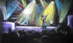 Basshunter Concert, Glasgow, Scotland, chalk pastel by Lauryn Medeiros