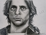 John Bender From The Breakfast Club, Judd Nelson, graphite drawing by Lauryn Medeiros