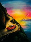 Fearless Auto Care, Book Cover Art, book cover, illustration, chalk pastel by Lauryn Medeiros