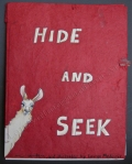 Hide and Seek, book cover, colored pencil, llama, Book by Lauryn Medeiros