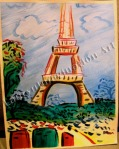 Eiffel Tower, Inspired by Raoul Dufy, painting by Lauryn Medeiros