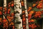 Fall Birch Trees, chalk pastel by Lauryn Medeiros