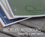 graphic design by Lauryn Medeiros, Photoshop, fall, notebooks, school, eco-friendly, recycled, bookstore, Boise State