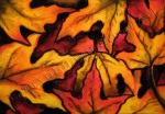 Fall Leaves, chalk pastel by Lauryn Medeiros
