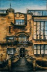 Glasgow School of Art Mackintosh Building, Scotland, chalk pastel by Lauryn Medeiros
