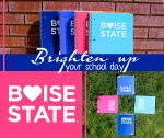 graphic design by Lauryn Medeiros, Photoshop, fall, notebooks, heart, love, bright colors, colorful, school, bookstore, Boise State