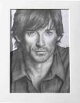 Hugh Jackman, graphite drawing by Lauryn Medeiros