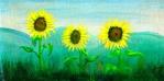 Italian Sunflowers, painting by Lauryn Medeiros