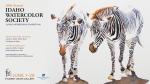 graphic design by Lauryn Medeiros, advertisement, Idaho Watercolor Society, zebras, art, exhibition, information
