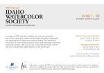 graphic design by Lauryn Medeiros, postcard, Idaho Watercolor Society, zebras, art, exhibition, information