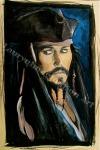 Jack Sparrow, Johnny Depp, painting by Lauryn Medeiros