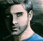 Intense Gaze, Mood project, Jensen Ackles, painting by Lauryn Medeiros