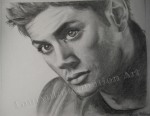 Jensen Ackles, graphite drawing by Lauryn Medeiros