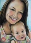 chalk pastel by Lauryn Medeiros, portrait, sister, child,