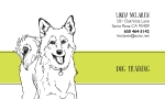 graphic design by Lauryn Medeiros, business card, dog, dog training, illustration