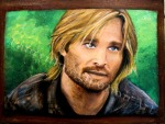 Sawyer from LOST, Josh Holloway, painting by Lauryn Medeiros