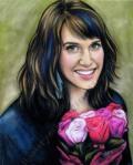 Self Portrait, work, Drawn2Art, teachers, chalk pastel by Lauryn Medeiros, Los Altos, California