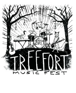 design by Lauryn Medeiros, t-shirt, design, contest, animals, animal band, trees, Treefort Music Fest, Boise, Idaho