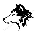 icon by Lauryn Medeiros, wolf, illustrator, animal, graphic design, black and white, vector