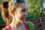 Amber Sunlight, digital photography by Lauryn Medeiros, smiling, cute, pretty lighting