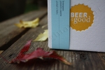Angela R. Stewart Design, Inc. Coaster, yellow, beer, fall leaves, photography by Lauryn Medeiros