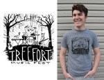 t-shirt by Lauryn Medeiros, design, music, treefort music festival, boise, idaho, competition, illustration