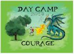 t-shirt design by Lauryn Medeiros, green, dragon, knight, day camp, summer, kids, 2013