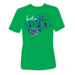 t-shirt design by Lauryn Medeiros, Bronco Shop, Boise State University, St. Patrick's Day, lucky, green, plaid
