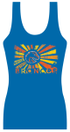 t-shirt design by Lauryn Medeiros, Boise State, Bronco Shop, blue and orange, summer, sun, tank top