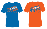 t-shirt design by Lauryn Medeiros, Boise State Broncos, Bronco Shop, bue and orange, football, game day, lasso